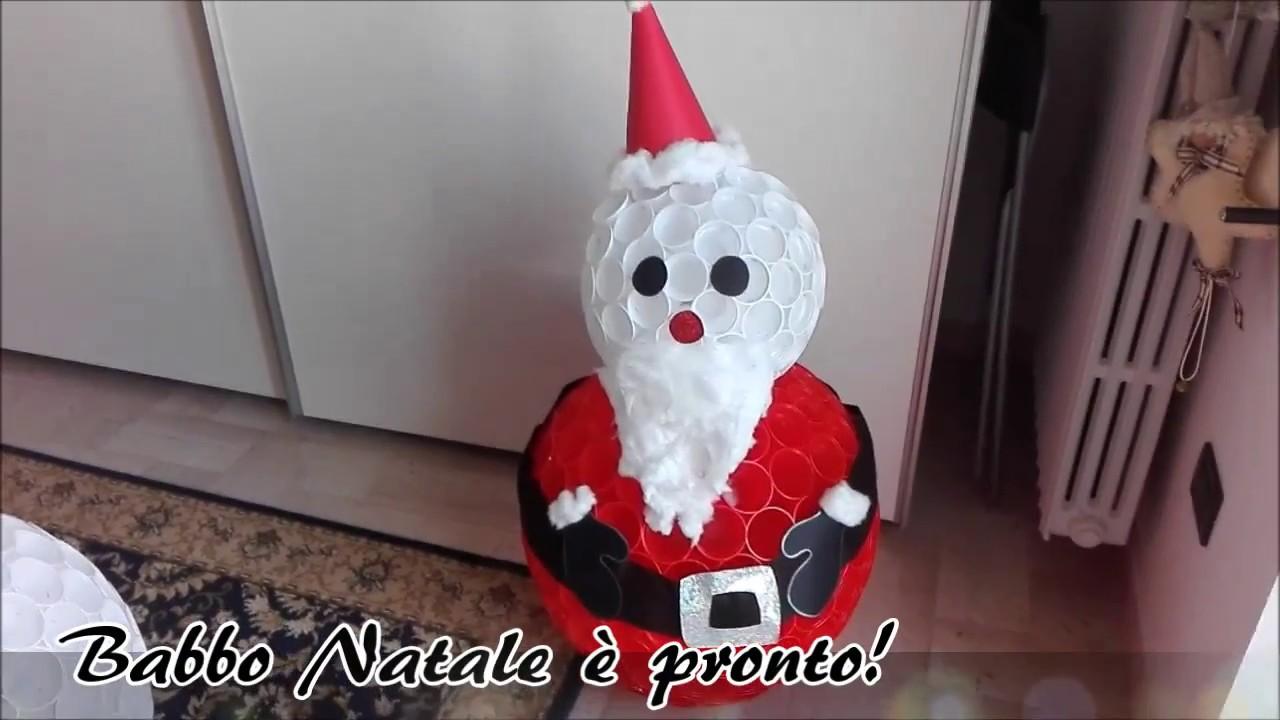 Babbo Natale Lavoretti.Tutorial Babbo Natale Con Lavoretto Con Bicchieri Di Plastica