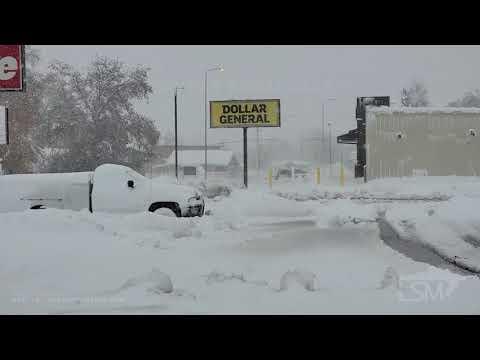 10-13-2021 Sturgis, South Dakota - Heavy Snowfall, Treacherous Conditions on i-90, Blowing Snow, Ext