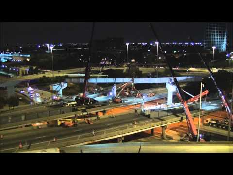 IDOT Jane Byrne Interchange Northwest Flyover Ramp Construction - Weekend 1