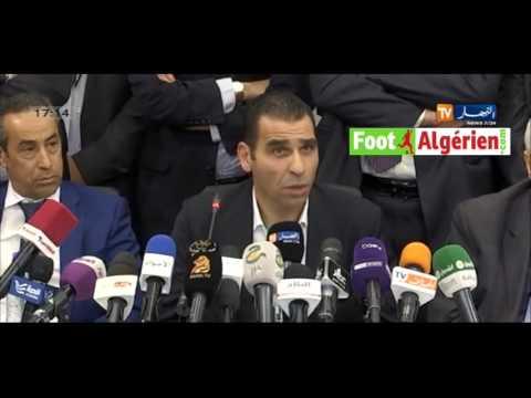 Conférence de presse du nouveau président de la FAF Kheireddine Zetchi
