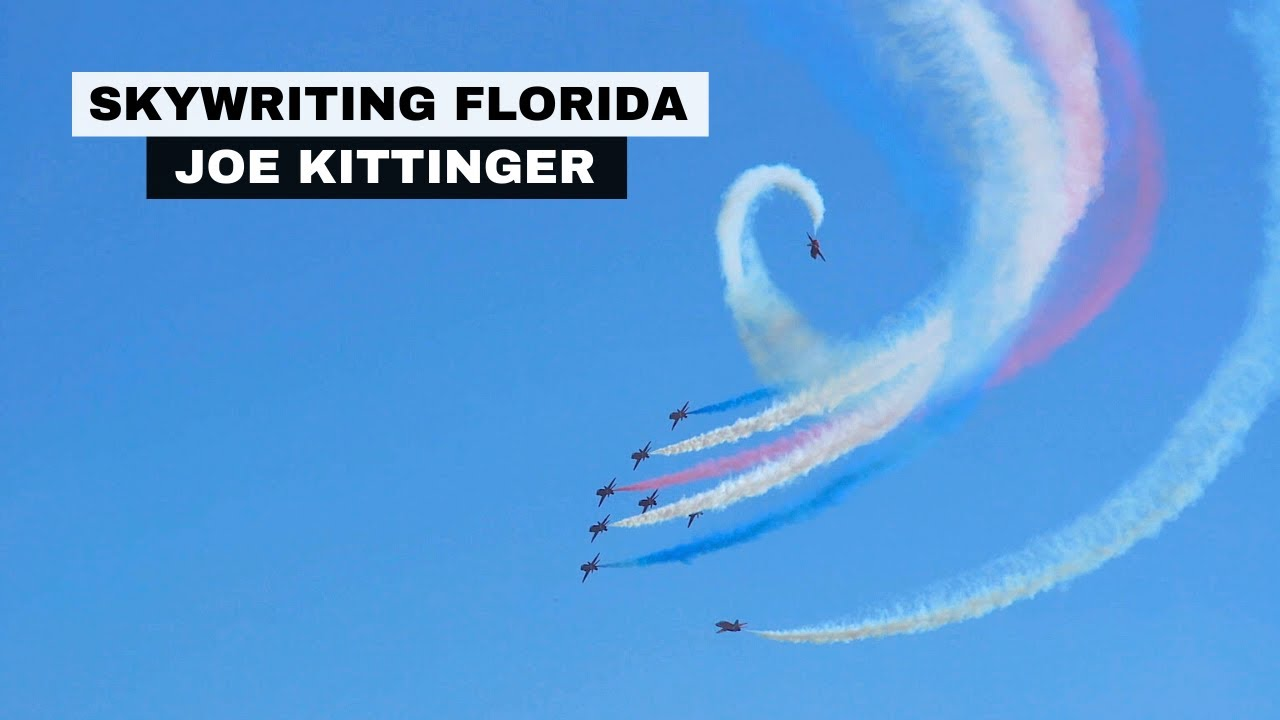 Airplane Skywriting FOX 35 Orlando, Florida | Joe Kittinger | The art of skywriting | Video