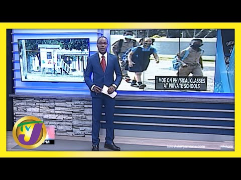 MOE on Face- to-Face Classes at Private Schools in Jamaica   TVJ News