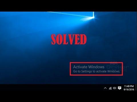 activate windows watermark windows 10