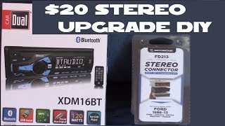 Upgrading My Car stereo only $20 Dual XDM16BT install DIY