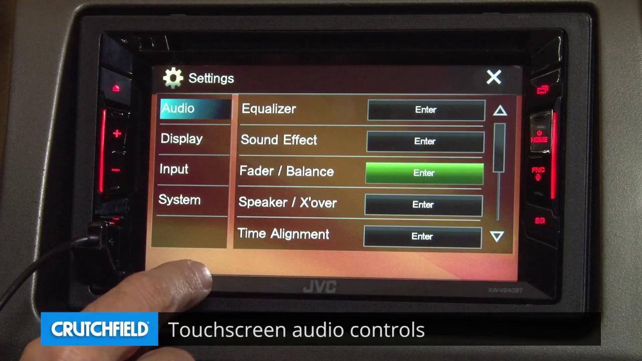 Jvc Kw V240bt Display And Controls Demo Crutchfield Video Youtube Mitsubishi Evo 6 Wiring Diagram