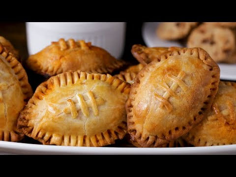 Buffalo Chicken Football Hand Pies