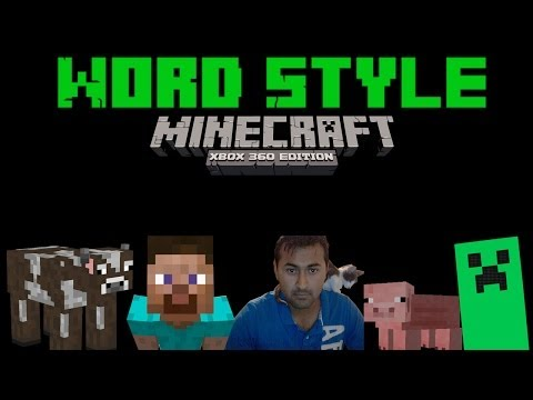 Word Style # 6 Todo un agricultor - Minecraft Xbox 360