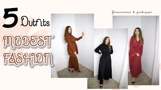 5 TENUES MODEST FASHION FÉMININES & ABORDABLES : HIJAB FRIENDLY   TRY ON / HAUL ft. JENNAH BOUTIQUE
