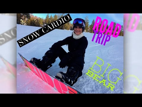 CARDIO WORKOUT IN THE SNOW| Snowboarding trip