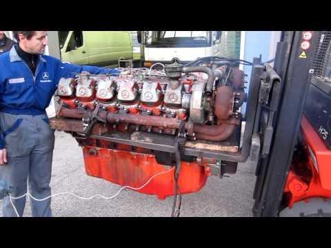 Mercedes Benz OM 444 LA 12V engine start