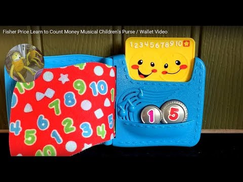 Fisher Price Learn to Count Money Musical Children's Purse / Wallet Video