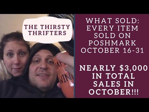 What Sold October 16-31 Poshmark Reseller Update