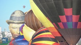 Pilots enjoy hot air balloon festival in Mexico