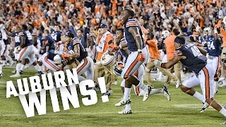 Watch the insane ending and celebration after Auburn's 18-13 victory over LSU