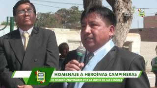 SANTA MARÍA RINDE MERECIDO HOMENAJE A HEROÍNAS DE LA LUCHA SOCIAL POR LAS 8 HORAS DE TRABAJO
