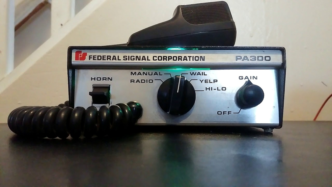Federal Signal PA300 Siren - Silver 1980s Model by FCV0511 on
