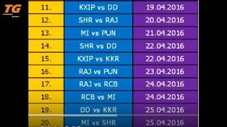 IPL 2018 Fixtures, Schedule, Timings and Venue - Here is the list of 2018 Indian Premier League matc