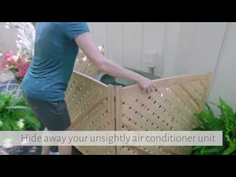 Wood Lattice Air Conditioner Screens Improvements