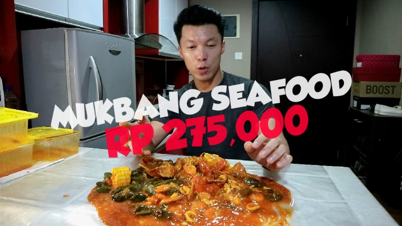 Mukbang Seafood Kepiting Saos Padang Youtube