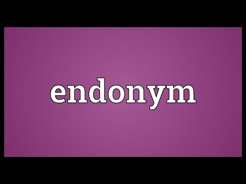 Endonym Meaning