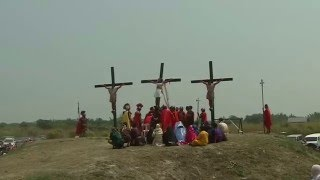 Catholics crucify themselves on Good Friday in the Philippines. Rep...