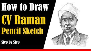How to Draw a CV Raman - Step by Step