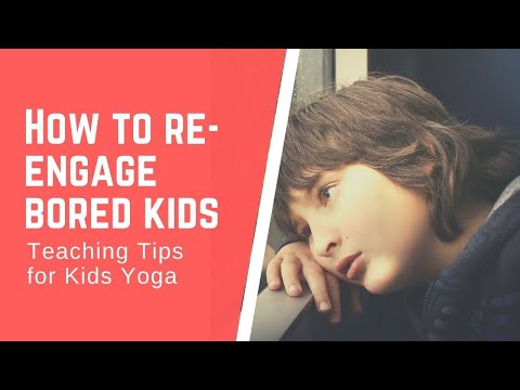 How to Re-Engage Bored Kids in Your Yoga Class