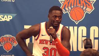 Julius randle addresses the media ahead of 2019-20 nba season.