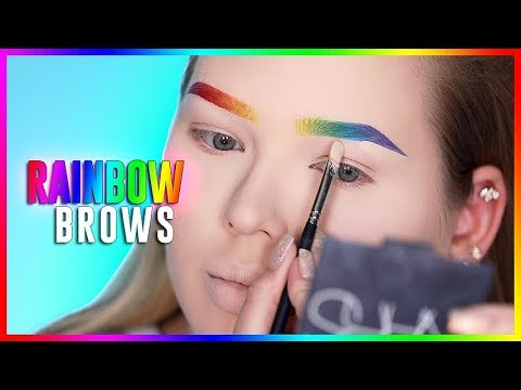 RAINBOW BROWS TUTORIAL! | NikkieTutorials thumbnail