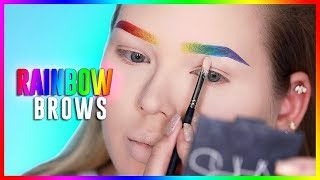 rainbow brows tutorial  nikkietutorials