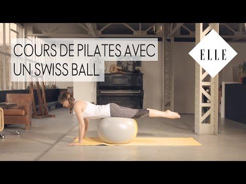 Cours de pilates avec un Swiss Ball ┃ELLE Pilates