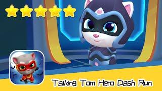 Talking Tom Hero Dash Run Day229 Walkthrough Endless runner Save the world Recommend index five star