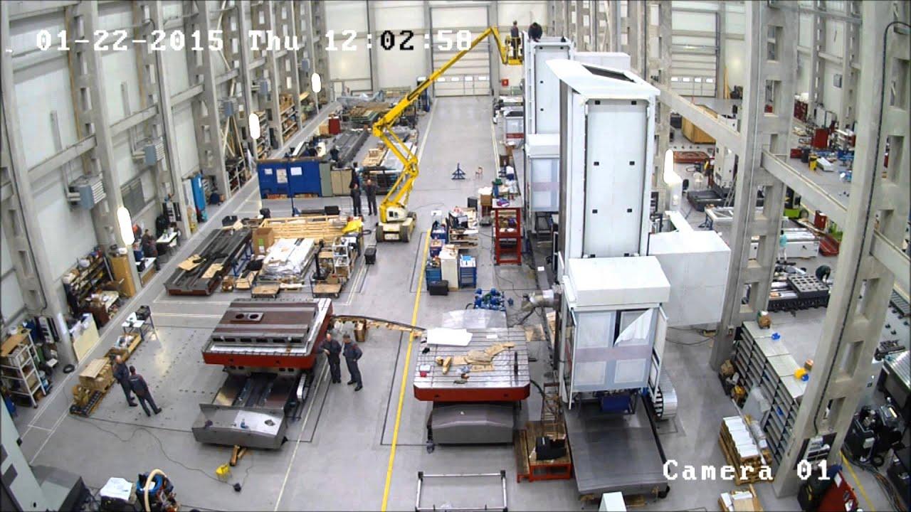 FERMAT Floor type Horizontal Boring Mill WRF 160 Heavy - Construction  process