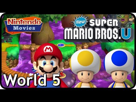 New Super Mario Bros. U: World 5 Soda Jungle (All Star Coins 100% Multiplayer Walkthrough)