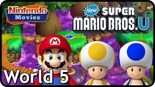 New Super Mario Bros. U: World 5 Soda Jungle (All Star Coins 100% Multiplayer Walkthrough)