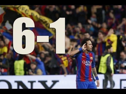 FC Barcelona - PSG (6-1) : FULL MATCH 2017 HD