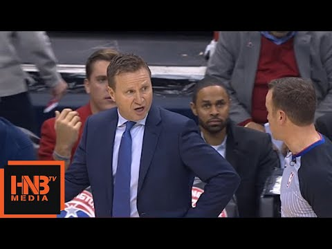 Scott Brooks gets technical foul / Cavaliers vs Wizards