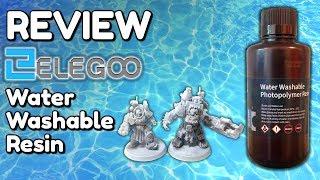Elegoo Water Washable Resin REVIEW - Washable vs Standard - Elegoo Mars Printer settings