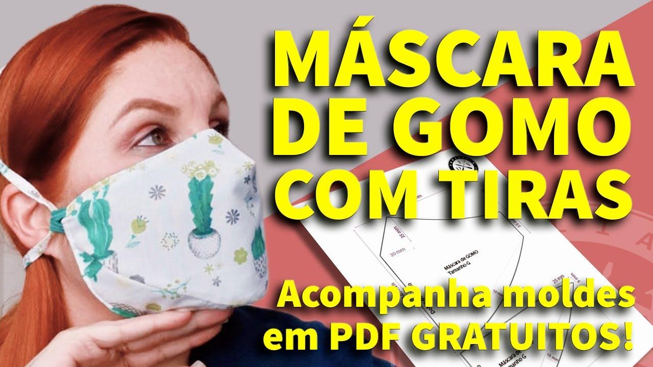 MÁSCARA DE PROTEÇÃO DE GOMO - FAMÍLIA DIY