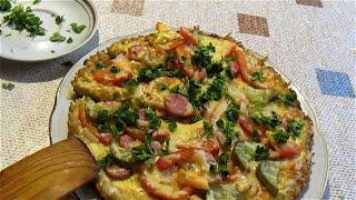 Пицца на сковороде за 10 минут Рецепт быстрого приготовления домашней пиццы
