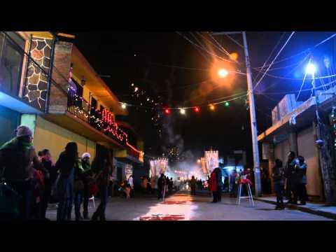 FERVOR GUADALUPANO, PROCESIÓN NOCTURNA 2014 VIRGEN DE GUADALUPE, GUADALUPE IXCOTLA, TLAXCALA, MÉXICO