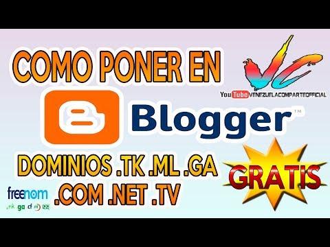 Como Configurar Blogger en dominios  .tk  .ml   .com  .net GRATIS