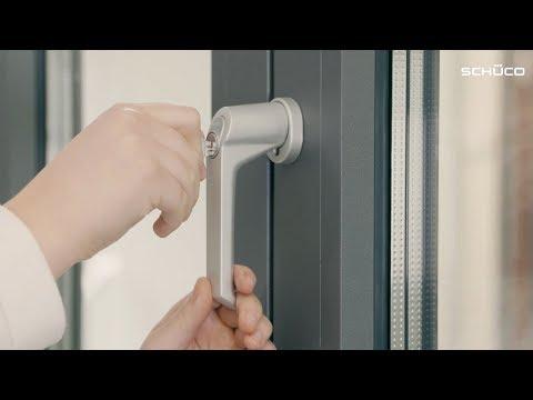 Abschließbaren Schüco Aluminium-Fenstergriff selbst montieren