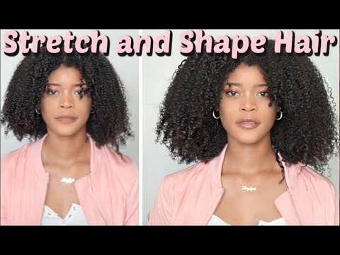 How to Stretch Natural Hair in Minutes | No Heat No Shrinkage