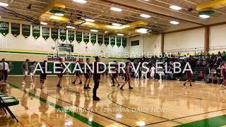 SECTION V BOYS BASKETBALL | Elba 61 Alexander 45