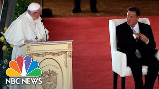 "Public service should be ""a synonym of honesty and justice,"" said the pontiff during his visit to panama city.» subscribe nbc news: http://nbcnews.to/subs..."