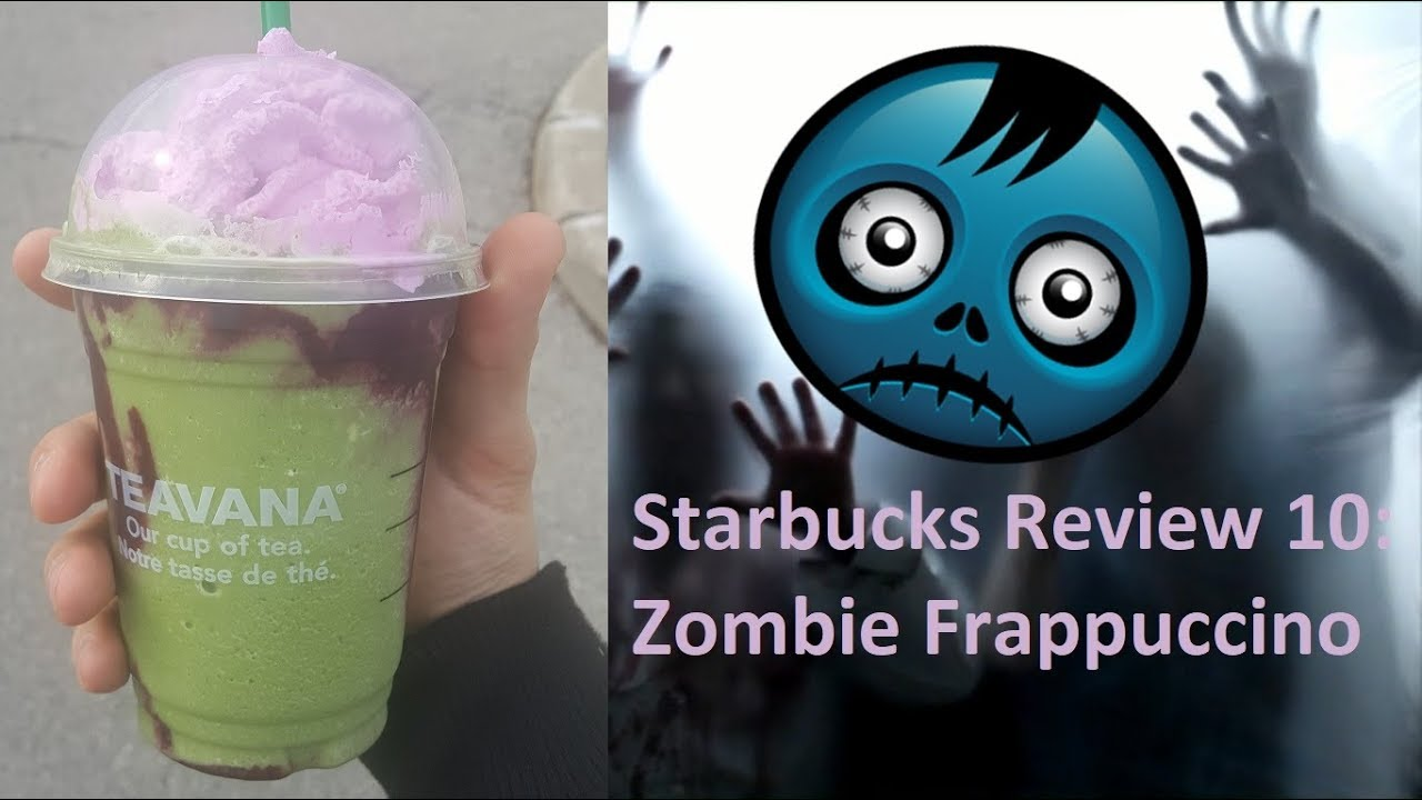 starbucks review 10: zombie frappuccino - halloween special - youtube