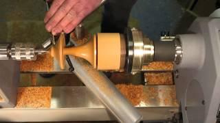 Wood Turning - An Earing Holder