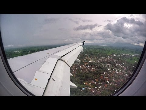Indonesia Air Asia A320-200 Landing in Lombok