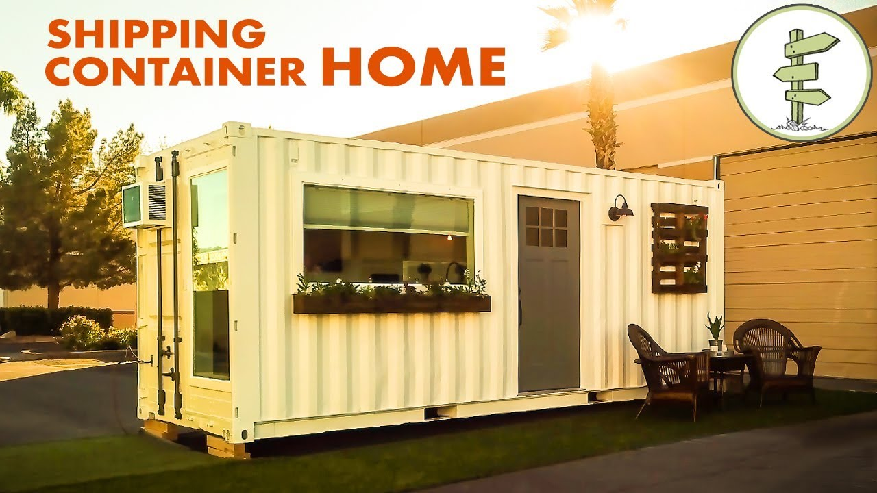 Minimalist 20ft shipping container tiny house for 39k for How to make a shipping container home